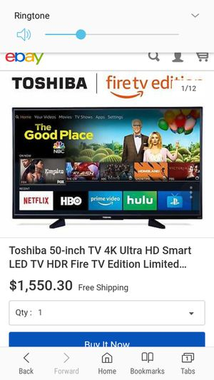 TOSHIBA tV 4k Fire Edition for Sale in Hialeah, FL