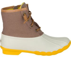 Sperry Saltwater Ivory Tan Yellow Women's Boots for Sale in Riverdale, GA