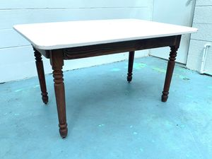 Enamel Antique Table w/ wooden base for Sale in St. Petersburg, FL