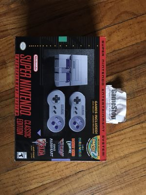 Super NES Nintendo classic new in box with receipt for Sale in Denver, CO