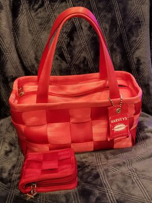 Red Harveys seatbelt purse and wallet for Sale in Orange, CA