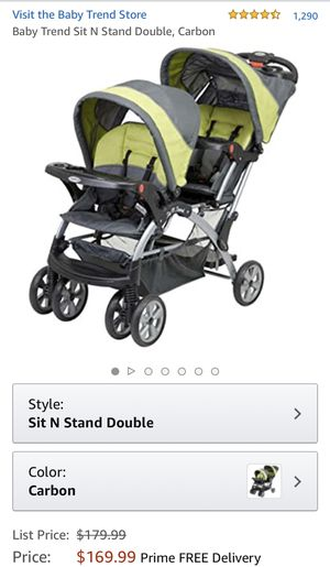 DOUBLE STROLLER, new, like pictured for Sale in Staten Island, NY