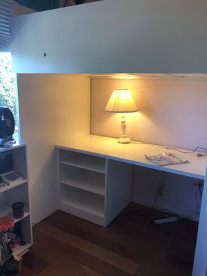 Loft Bed with desk and wardrobe -IKEA for Sale in San Diego, CA
