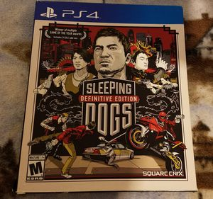 Ps4 sleeping dogs special edition for Sale in Orlando, FL