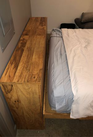 Crafty Polished Wood Bed Frame & Stand w Great Storage for Sale in Cincinnati, OH