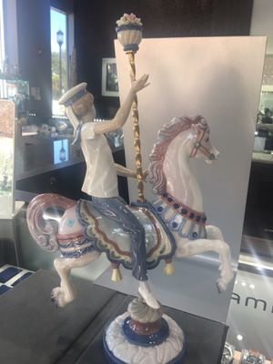 Authentic lladro boy on carousel horse for Sale in Plantation, FL