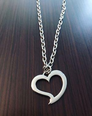 DeMarcus Alexan Steel Open Heart Necklace for Sale in Washington, DC