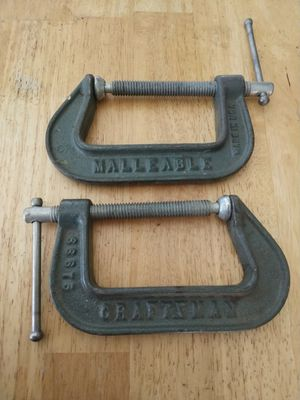 Set of 2 Craftsman vintage C clamps Made in the USA Price is firm for Sale in Fort Lauderdale, FL