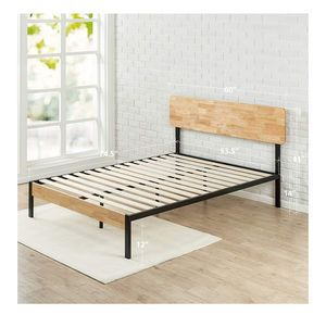 Platform Bed with Slats, Full for Sale in Durham, NC