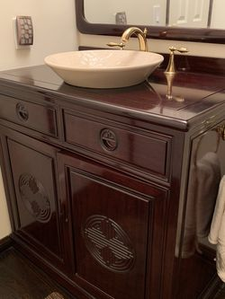 Chinese Rosewood Vanity Faucet And Sink for Sale in Los Angeles,  CA
