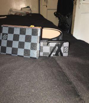 Black Louis Vuitton Belt & Pouch for Sale in Rankin, PA