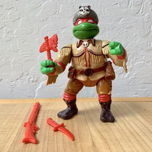Vintage 1992 Teenage Mutant Ninja Turtles Wacky Wild West Sewer Scout Raph, Raphael TMNT Action Figure Collectable Toy with 3 Weapons for Sale in Elizabethtown, PA