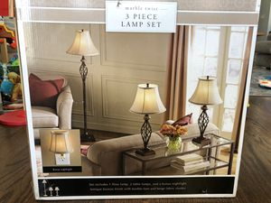 3 piece lamp set for Sale in Island Heights, NJ