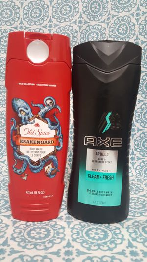2 Men body wash, old spice 16 oz and Axe 16 oz for Sale in Homestead, FL