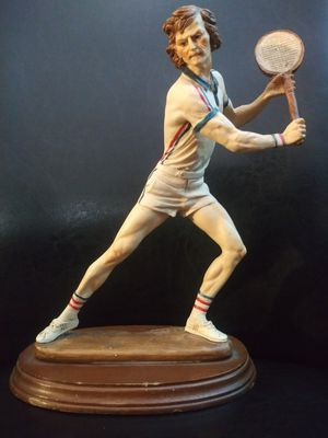 Vintage tennis statue signed Pucci 11 inches for Sale in Addison, IL