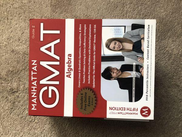 GMAT MBA Grad school prep text books