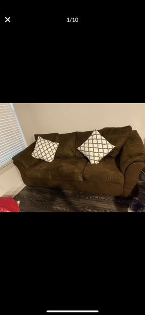 3 seater sofa and love seat with coffee table and 2 end tables for Sale in Spring, TX