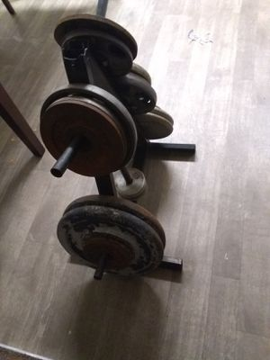 Weights ..Rack .220.00 Libras. 2#45.2#25.2#10.y lo de mas for Sale in Glendale, AZ