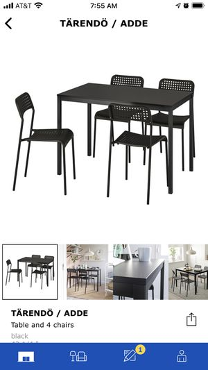 IKEA Tarendo dinner table and chairs for Sale in Alexandria, VA