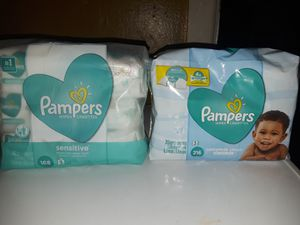 Pampers Wipes 4 each for Sale in Houston, TX