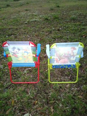Two kids fold-up chairs with two brand new PAW Patrol walkie talkies for Sale in Clanton, AL