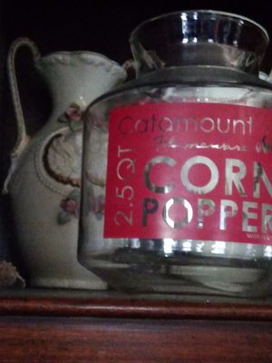 Vintage popcorn maker pyrex glass for stove top for Sale in Fort Worth, TX