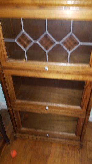 Glass face solid wood shelves for Sale in Portland, OR