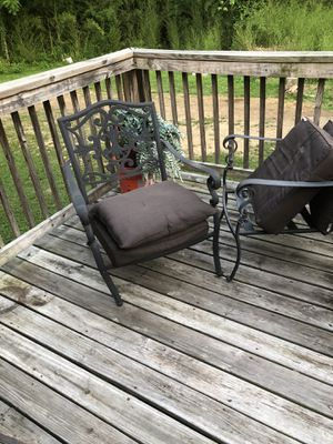 4 deck chairs need new cushions 25.00 a piece, for 4 chairs. 25 forbirdcage for Sale in Knoxville, TN