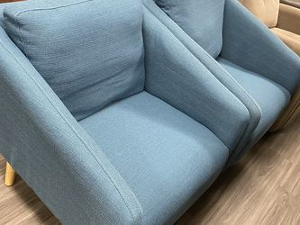 new blue sofa chair Pair (set Of Two) for Sale in Las Vegas,  NV
