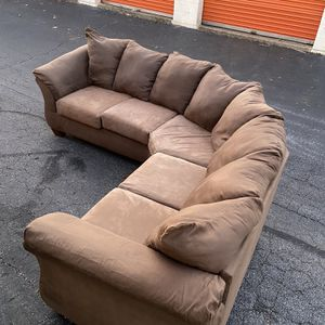 Beautiful Brown Sectional Sofa for Sale in Roswell, GA