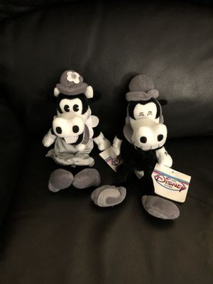 Disney Horace and Clarabelle Black and White Beanie Babies Brand New with Tags for Sale in Fresno, CA