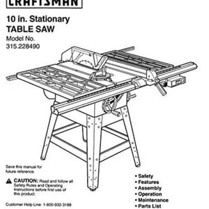 "Brand New Craftsman 10"" Saw Table 315.228490 for Sale in Fort Lauderdale, FL"