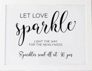 Sparkler Send off wedding sign for Sale in Tonawanda, NY
