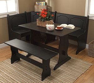 Breakfast nook dining dining table set storage bench for Sale in Miami, FL