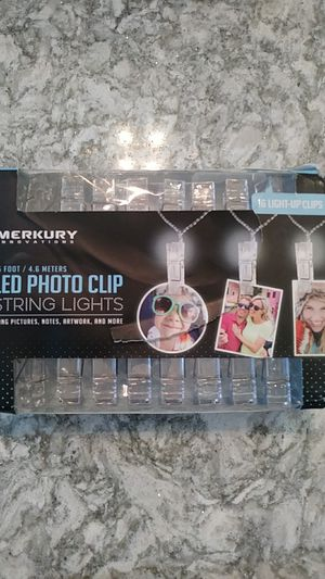 led photo clip string lights for Sale in Riverview, FL