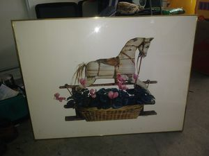 Big Rocking horse print picture for Sale in San Jose, CA