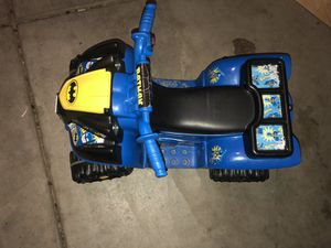 Batman Quad Atv Kids Toddler 4 Wheeler Electric Motorized Car Toy for Sale in Lake Elsinore, CA