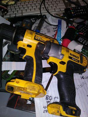 2 Dewalt cordless drill (read) for Sale in Orlando, FL