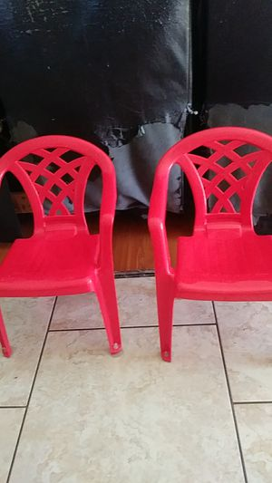 Two Plastic Chairs for kids for Sale in Sacramento, CA