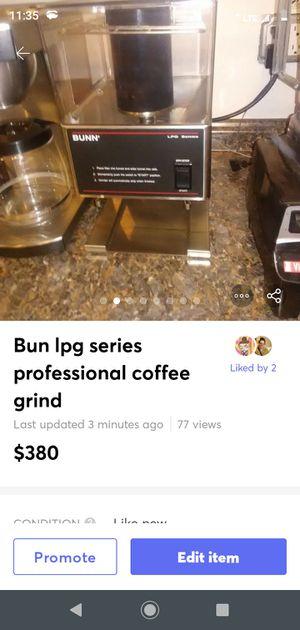 Bun Lpg Professional coffee grinder for Sale in Albuquerque, NM