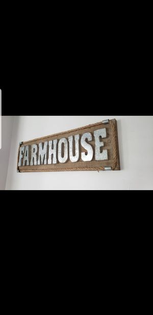 Large wood farmhouse sign for Sale in Chantilly, VA