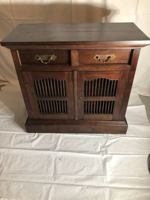 Asian style wood cabinet with drawers and doors for Sale in Seattle, WA