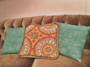 Three indoor/outdoor throw pillows for Sale in Norfolk, VA