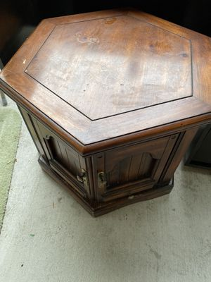 Hexagon Side Table with storage for Sale in Fremont, CA