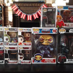 Funko Figures Disney, Star Wars, Netflix, Beetlejuice, Masters of The Universe for Sale in Orangevale, CA
