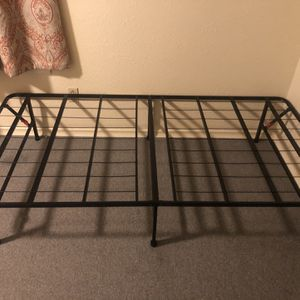Metal folding twin bed frame & mattress for Sale in Seattle, WA