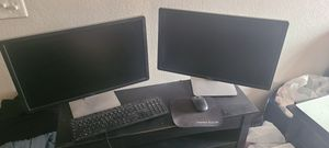 Dell computer dual monitor printer with modem keyboard for Sale in Sacramento, CA