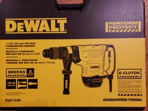 "Dewalt 1 -7/8"" sds max combination demolition concrete hammer/drill brand new for Sale in Federal Way, WA"