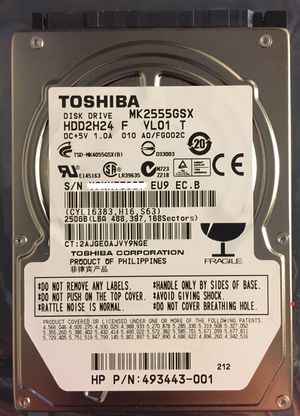 "Toshiba 250GB SATA 2.5"" Laptop Hard Drive - Used for Sale in Los Angeles, CA"