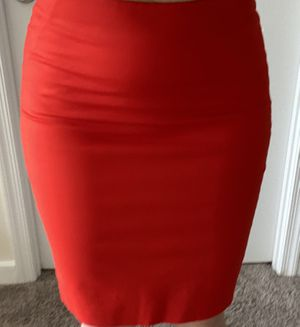 Vibrant red The Limited pencil skirt like new for Sale in Arlington, VA